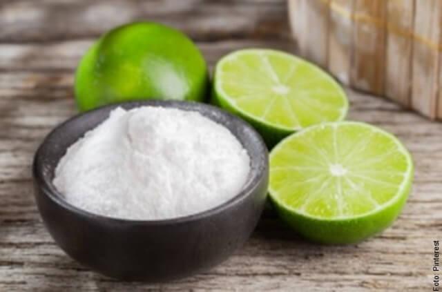 foto de limón y bicarbonato