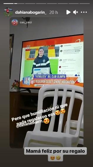 pantallazo de instagram