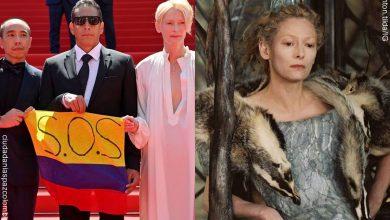 La Bruja Blanca de Crónicas de Narnia sacó bandera colombiana en Cannes