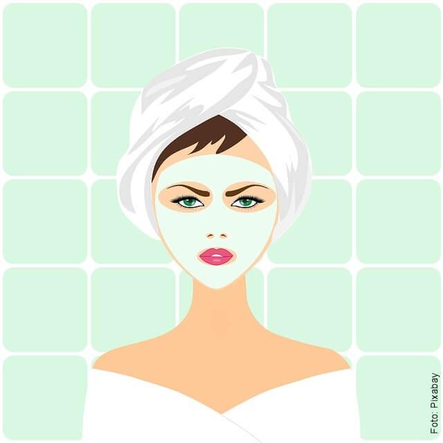 imagen de mujer con mascarilla