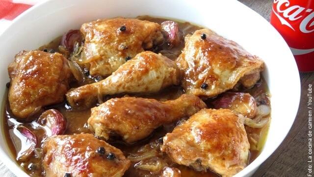 foto de pollo a la coca cola