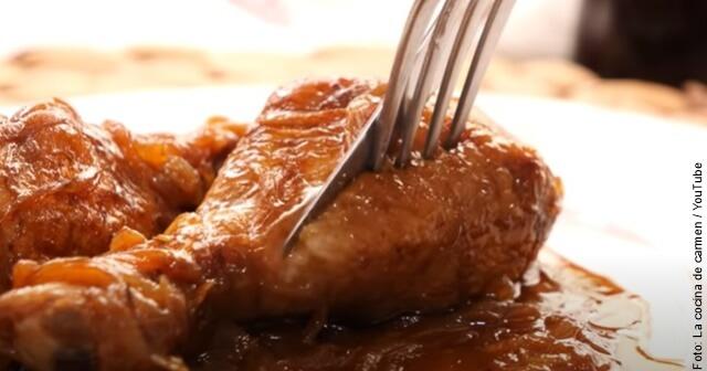 foto de cómo hacer pollo a la coca cola