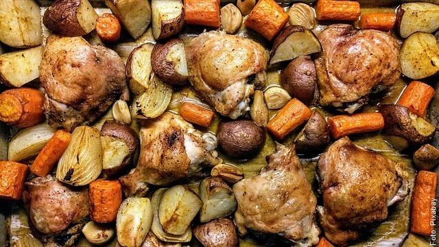 foto de pollo al horno