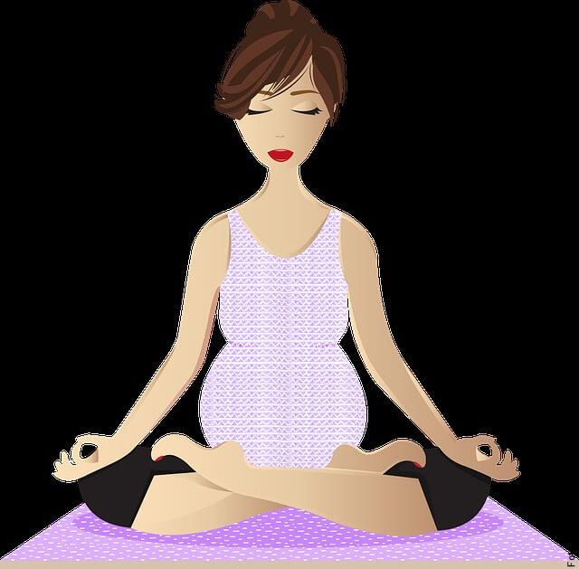 imagen de mujer embarazada practicando yoga