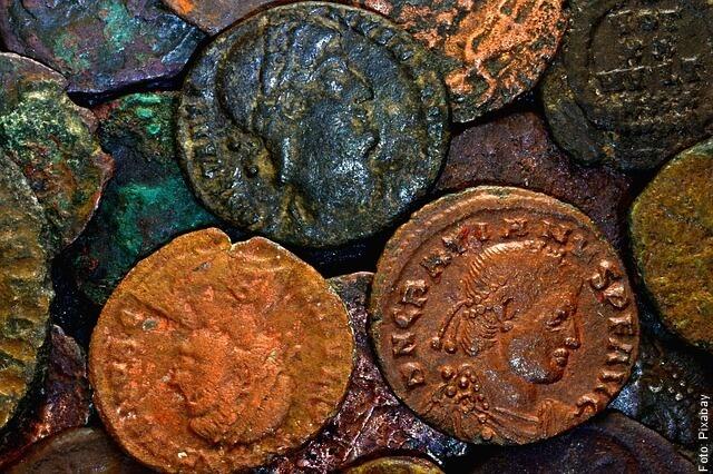 foto de monedas antiguas