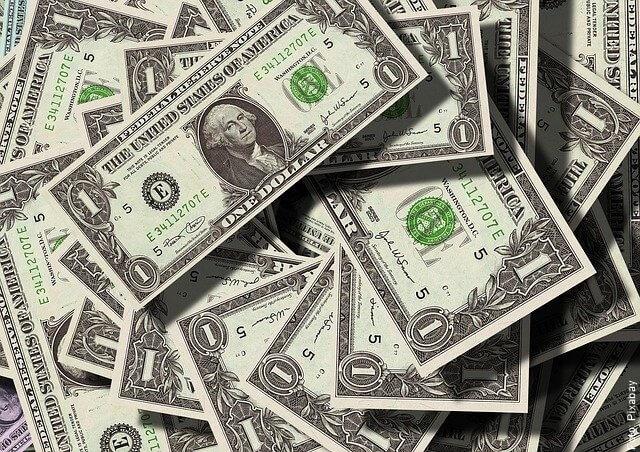 foto de billetes de 1 dólar