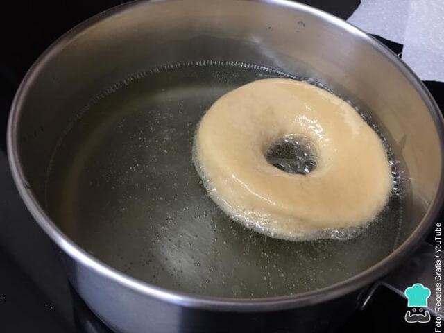 foto fritando donas