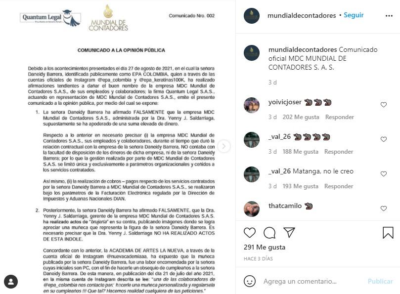 """Epa Colombia sería demandada tras acusaciones de """"brujería"""""""