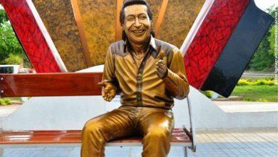 Estatua de Diomedes Díaz en Valledupar vuelve a ser atacada