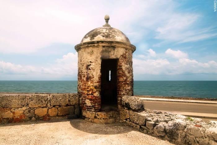 Foto de la muralla de Cartagena