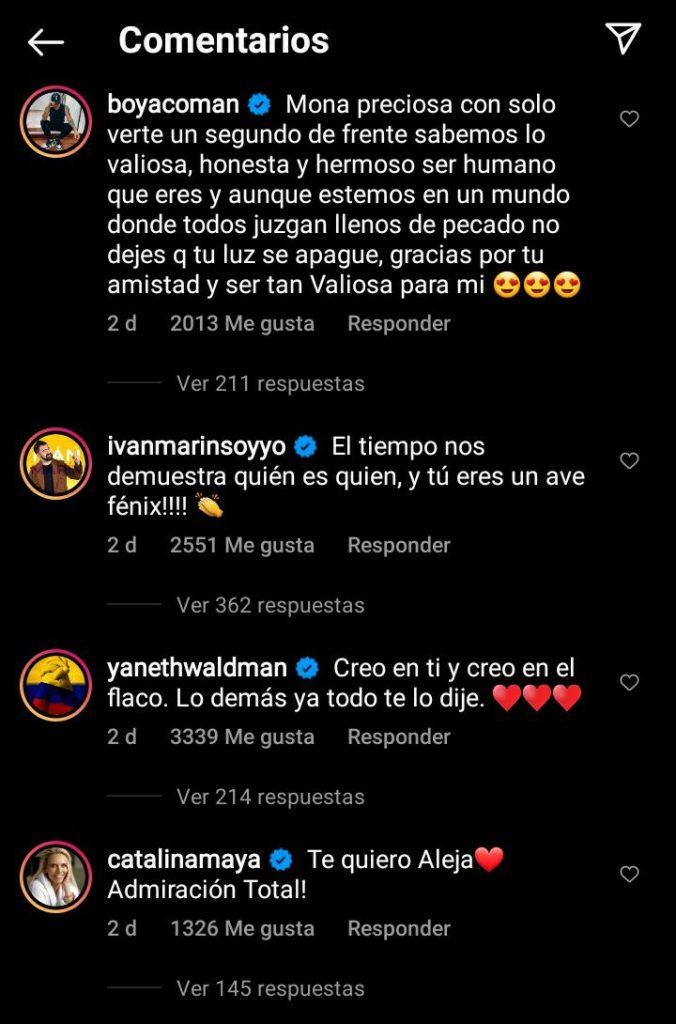 Los famosos que salieron a apoyar a Alejandra Azcárate