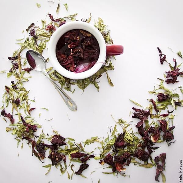 foto de te de flor de jamaica
