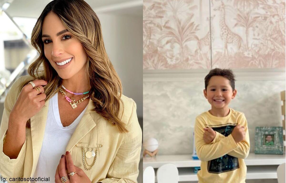 Hijo de Carolina Soto estrena remodelación en su habitación