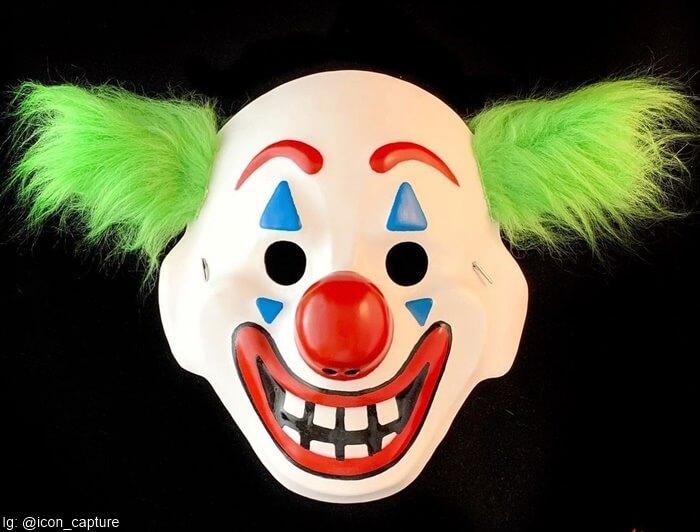 Máscara que usa el Joker en la película Joker