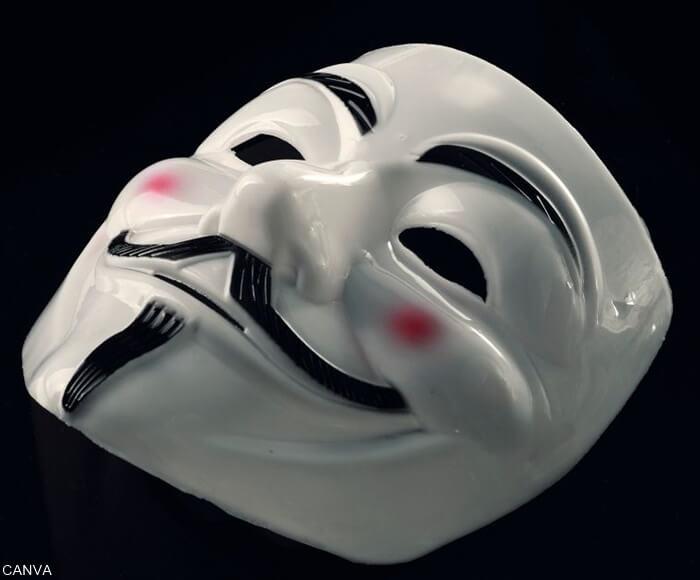 Máscara de Guy Fawkes de la película V de Vendetta
