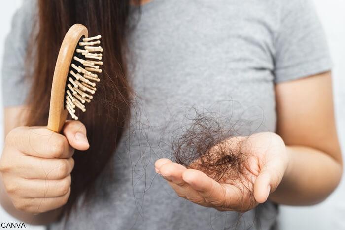 Foto de cebillo de cabello y cabello caído para ilustrar Soñar con caída de cabello qué tan malo es