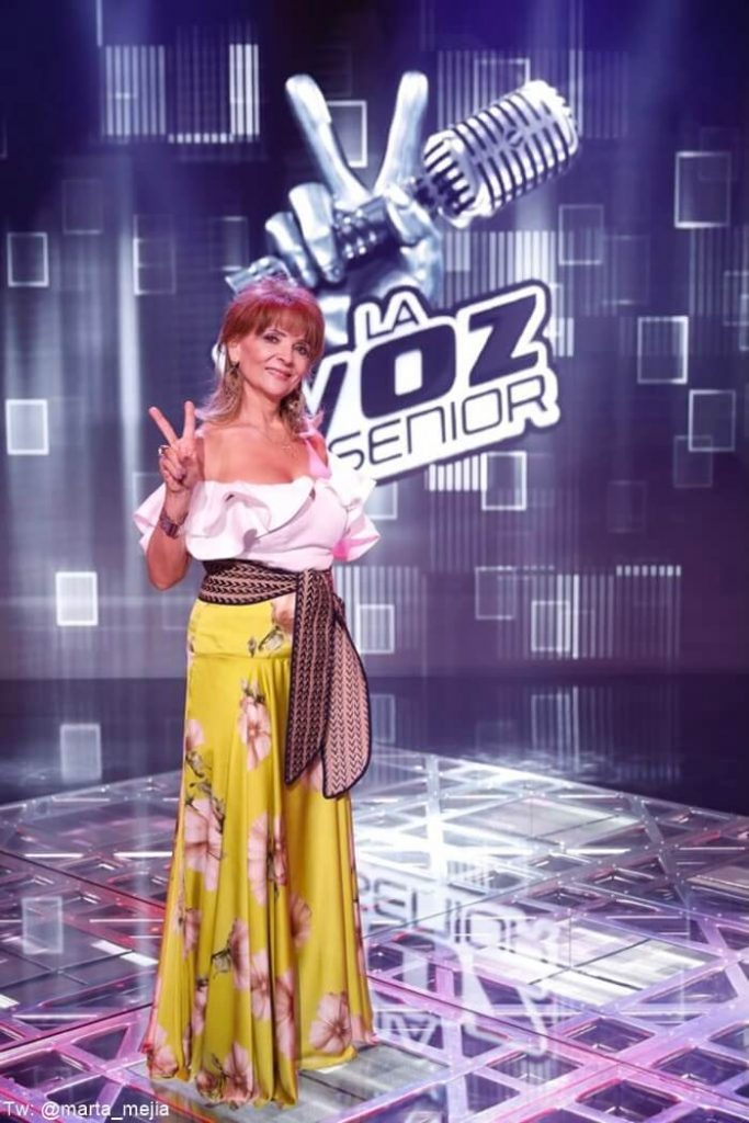 Marta Mejía en el escenario de La Voz Senior