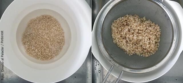 foto de cómo hacer arroz integral