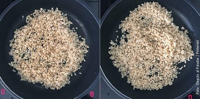 foto de arroz integral