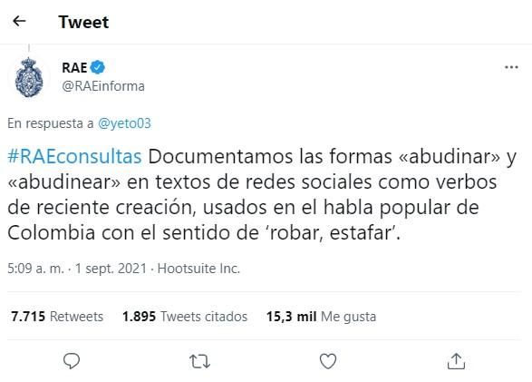 pantallazo de Twitter