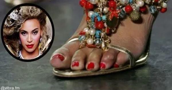 Foto de los pies de Beyoncé