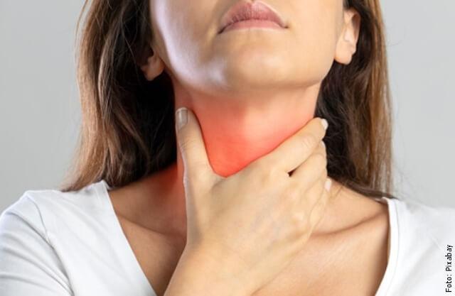 foto de dolor de garganta