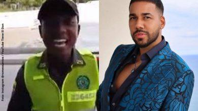¿Si se llama?, Policía sorprende al cantar igual a Romeo Santos