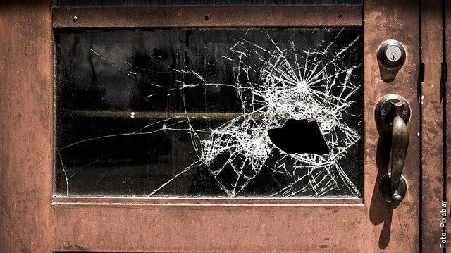 foto de vidrio roto
