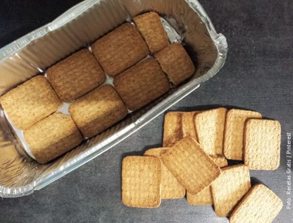 foto de cama de galletas