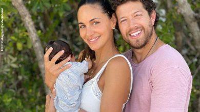Valerie Domínguez posó al natural junto a su bebé