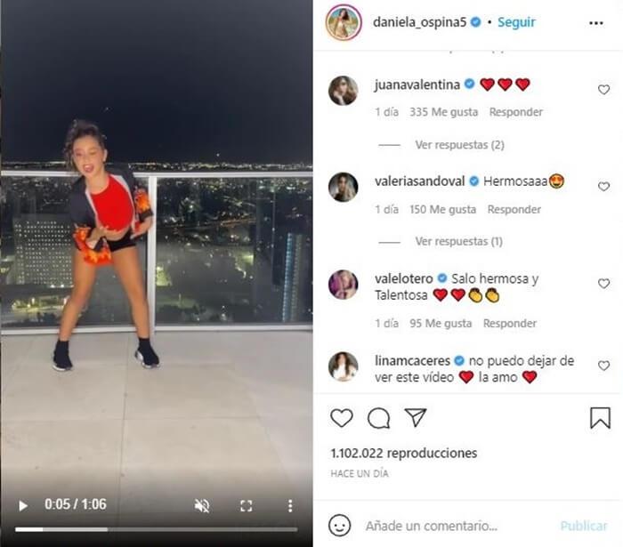 Pantallazo publicación baile de Salomé