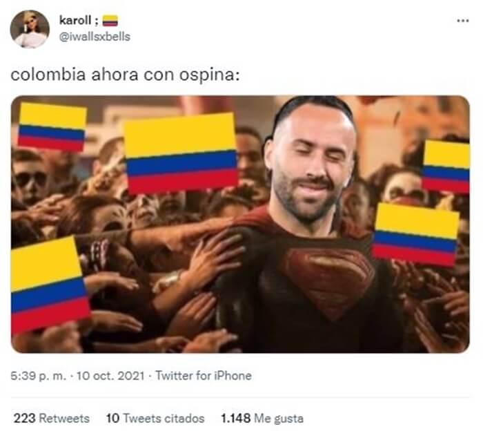 Pantallazo Tweet David Ospina