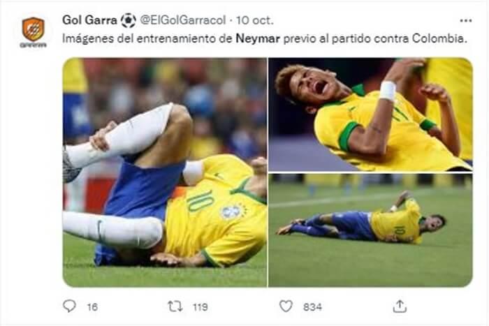 Pantallazo meme para Neymar