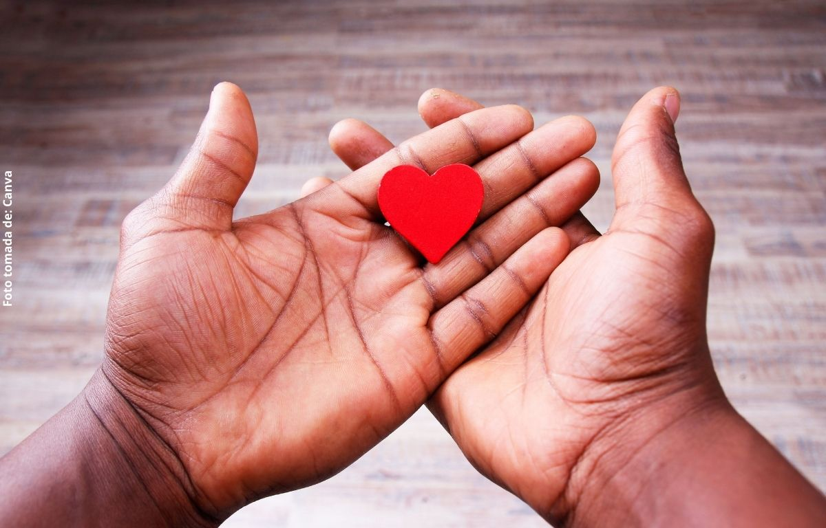 fotos de manos con un corazón de papel